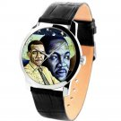 ULTRA-RARE PRESIDENTIAL CAMPAIGN OBAMA vs MARTIN LUTHER KING 40 mm WRIST WATCH