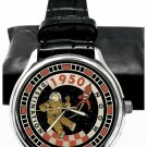 CLASSIC 1950s PARCHMENT DIAL TINTIN DESTINATION MOON 40 mm SOLID BRASS WATCH