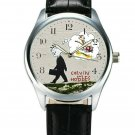 CALVIN AND HOBBES GROW UP! BANKSY STYLE GRAFFITI ART COLLECTIBLE WRIST WATCH