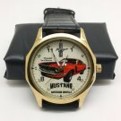 VINTAGE FORD MUSTANG CAR ENTHUSIAST'S COLLECTIBLE HOTROD ART 40 mm WRIST WATCH