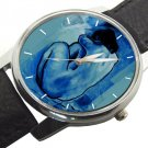 RARE PABLO PICASSO PERIODA AZUL BLUE NUDE WOMAN COLLECTIBLE ART WRIST WATCH