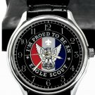 PROUD TO BE AN EAGLE SCOUT, HIGH QUALITY SOLID BRASS BOYS SCOUTS WRIST WATCH