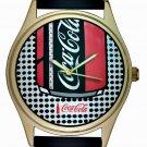VINTAGE ROY LICHTENSTEIN COCA COLA POP ART LARGE 40 mm SOLID BRASS WRIST WATCH