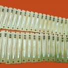 "INDIAN HARMONIUM 44 NARROW TONGUE ""HARP"" REED SET.  MALE / FEMALE / BASS CHOICE"