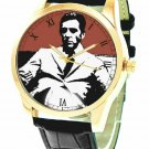 THE GODFATHER CLASSIC HOLLYWOOD ART AL PACINO CRIMSON BLOOD RED WRIST WATCH
