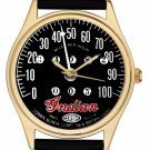 VINTAGE MOTOCYCLE SPEEDOMETER ART DIAL COLLECTIBLE 40 mm BRASS WRIST WATCH