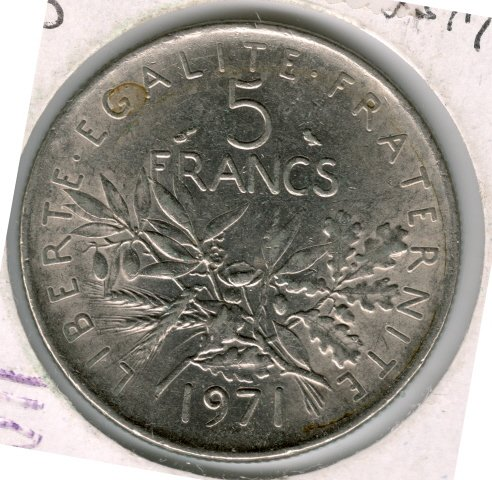 1971 5 francs XF-45