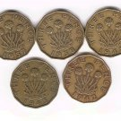 George VI Brass 3d Lot x5