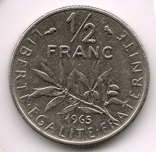 1965 50 Cents VF-30