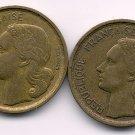 1952B+1953B 10 FRANCS