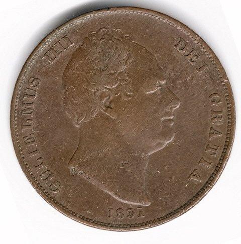1831 .W.W incuse Penny VF