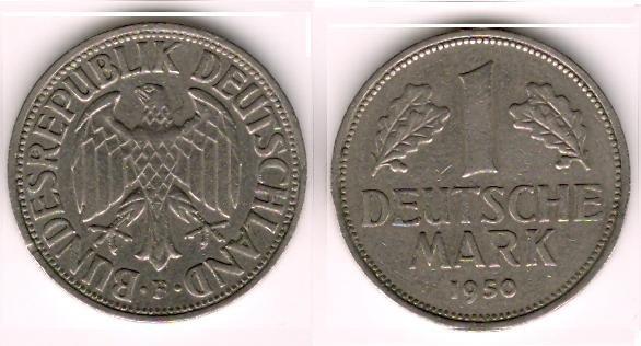 1950 F 1 mark VF/XF