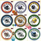 Football NFL AFL Birthday Stickers 1 Sheet Personalized Custom Made