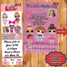 LOL Surprise Birthday Invitations 10 ea with Envelopes Personalized