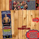 WWE Wrestling Birthday Invitations 10 ea with Envelopes Personalized Custom Made