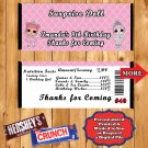 LOL Surprise Doll Birthday Candy Bar Wrappers 10 ea Personalized