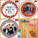 Why Don't We Birthday Stickers Round 1 Sheet Personalized