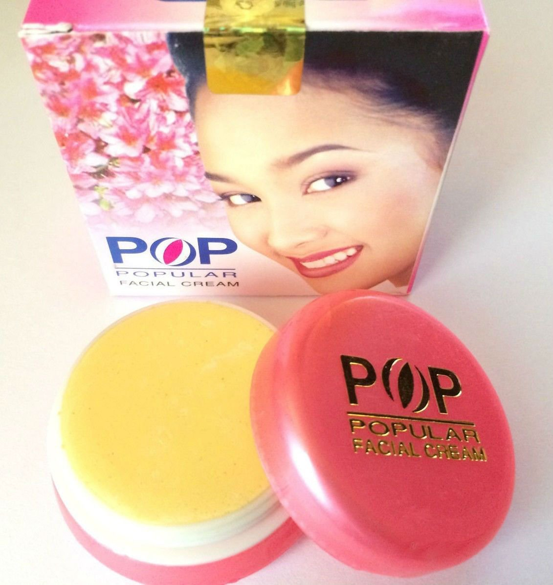 Pop Thai Popular Facial Whitening Cream Reduce Dark Spots Blemishes Acne Freckle