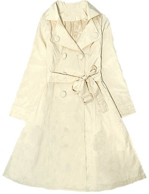 WHITE LONG TRENCH
