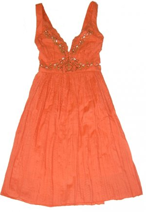 ORANGE LILY COTTON DRESS