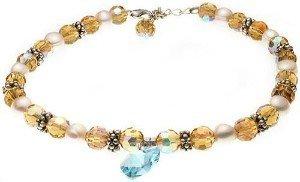 Dog or Cat Pearl Swarovski Crystal Necklace