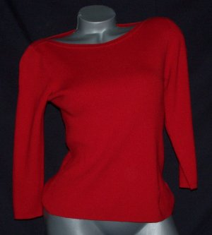 JCP Worthington Red Boatneck Sweater S Soft Sweater Girl