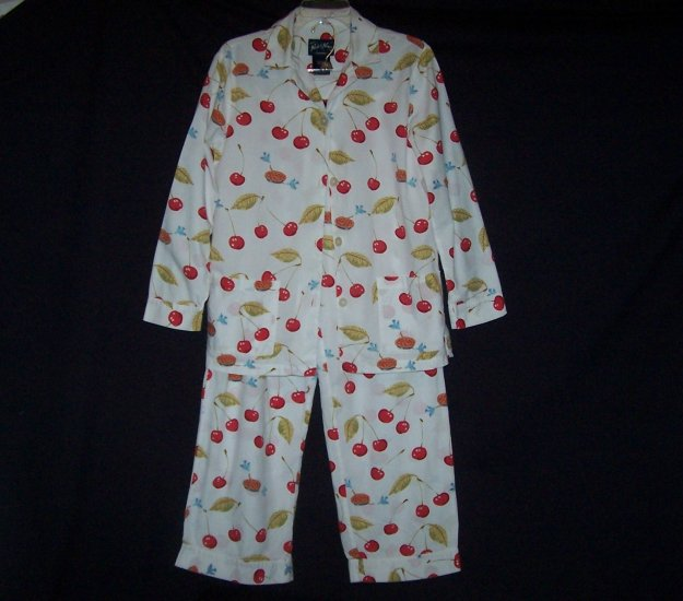 Nick & Nora Cherry Cherries & Blue Birds Pajama Set