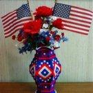 4th of July Vase