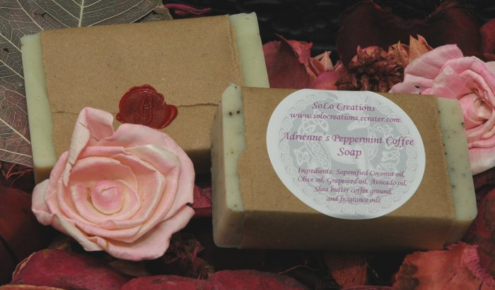 Adrienne's Peppermint with Coffee Soap