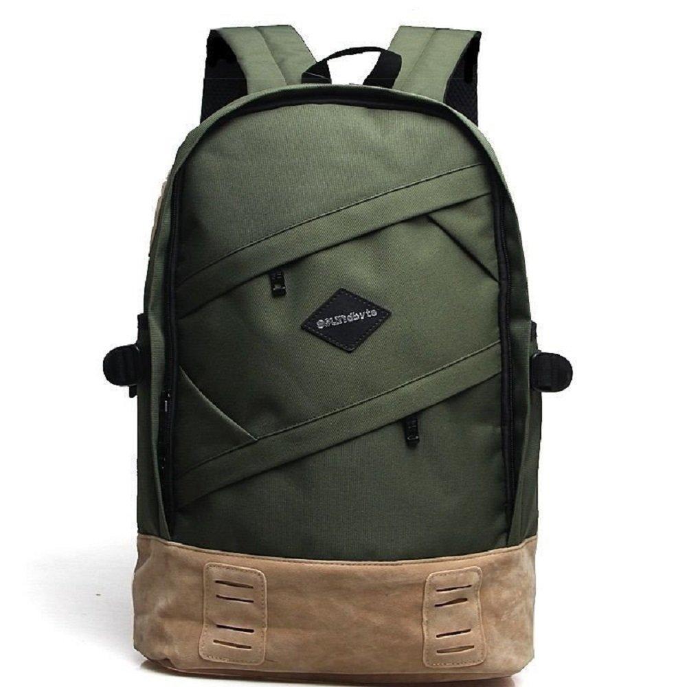 Laptop Backpacks, School Canvas Backpack Rucksack Daypack Bag Travel Sports Dark Green