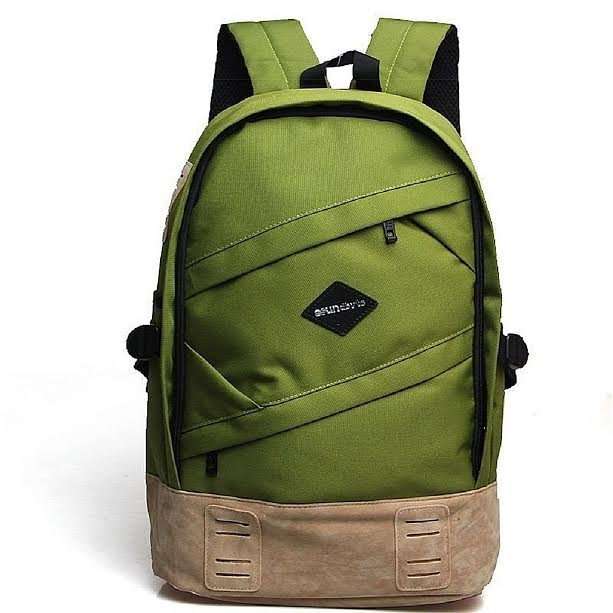 Laptop Backpacks, School Canvas Backpack Rucksack Daypack Bag Travel Sports Green