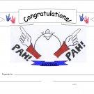 Pah! Success Congratulations Certificate 10-pack