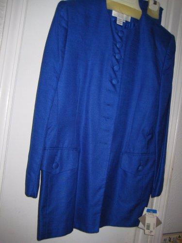 Jones of New York BLUE Jacket & Skirt w/BUTTONS JACKET & BUTTONS POCKET SIZE 10
