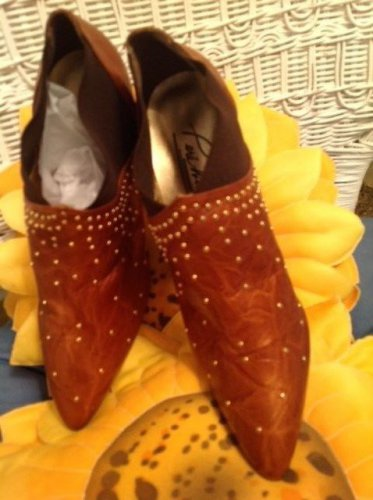 copper colored Boots with studs on front- for any occassion! sIZE 7.5