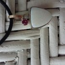 Sterling Silver & 10 kt. Gold Opal & Tourmaline Pendant