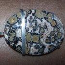 "Leopard print Jasper pendant sterling silver 1 3/4"""