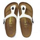 Birkenstock Gizeh Sandal, Patent White, Regular Fit,  0543761, NWT