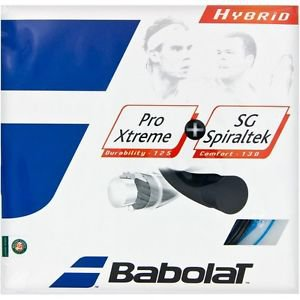 Babolat Pro Xtreme 17 + SG Spiraltek 16, Black and Blue, 4 PACKAGES , NWT