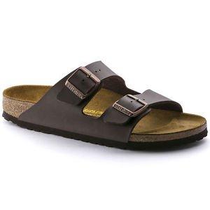 Birkenstock Arizona Sandal, Dark Brown, Narrow Fit, Size 39, NWT