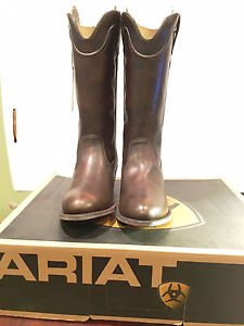 Ariat Women's Bluebell Cowboy Boots -12�, Almond Toe, Brushed Brown, Size 10 NWT