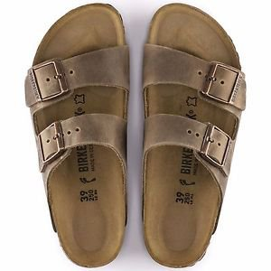 Birkenstock Arizona in Tabacco Brown Sandals, 0352203, Narrow Fit, NWT