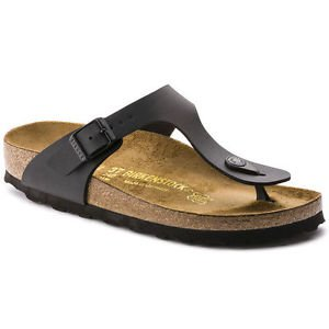 Birkenstock Gizeh Sandal, Black, Regular Fit, Size 39, NWT