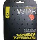 Volkl V-Star 18g, Fluo Orange, 4 Packages of Tennis String, NWT