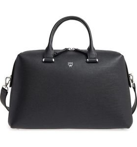 MCM Large Ella Boston Bowler Bag, Black, NWT