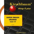 Kirschbaum Super Smash 17(1.23), Orange, 4 Packages of Tennis String, NWT