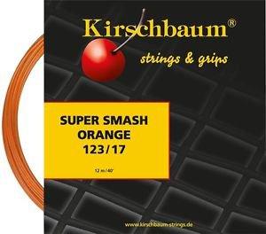 Kirschbaum Super Smash 17(1.23), Orange, 4 Packages of Tennis String, NWT