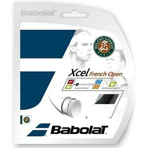 Babolat Xcel French Open, 16 G, Black, 3 Packages of String, NWT