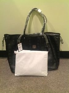 MCM Liz Large Reversible Shopper Tote, Black, NWT
