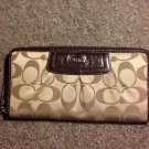 Coach Signature Sateen Pleated Zip Around Wallet, NWT-2