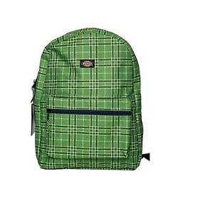 Dickies Recess Backpack,1-50030 442, Green Plaid, NWT